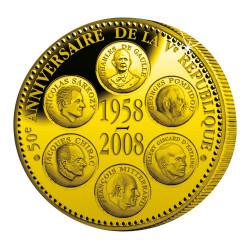 50e Anniversaire de la Ve République en Bronze