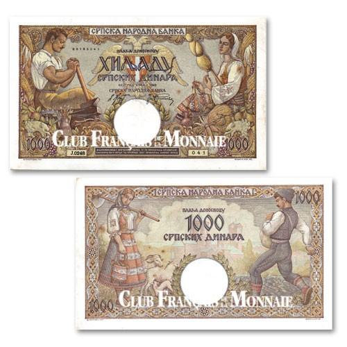 1 000 Dinara Serbie 1942