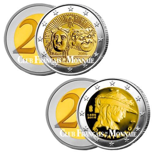 Lot des 2 x 2 Euro Italie 2016
