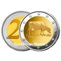 2 Euros Lettonie 2016 - Brune de Lettonie