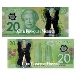 Billet 20 Dollar Canada - Reine d'Angleterre