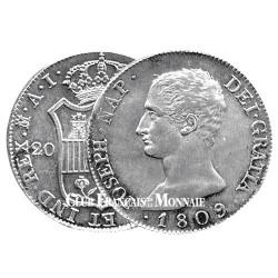 20 Reales Argent Joseph Bonaparte - Roi d'Espagne