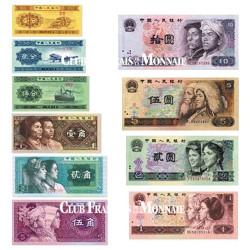 Lot de 10 Billets Chine 1953-1996