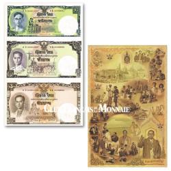 Planche de 3 billets 16 Baht Thaïlande 2007