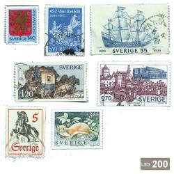 200 timbres Suède