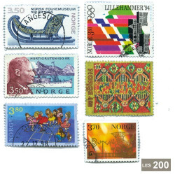 200 timbres Norvège