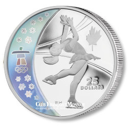 25 Dollars Argent Patinage artistique BE - Canada 2008