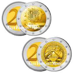 Lot des 2 x 2 Euro Andorre BU 2015