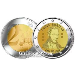 2009 - Belgique - 2 Euros - Bicentenaire de la naissance de Louis Braille