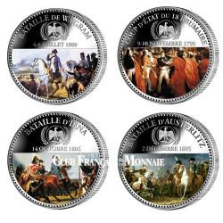 Les 4 médailles colorisées