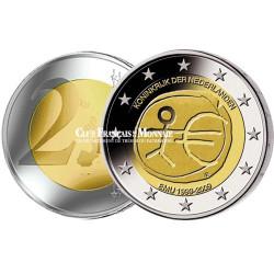 2009 - Pays-Bas - 2 Euros commémorative 10 ans de l'Union Economique et Monétaire