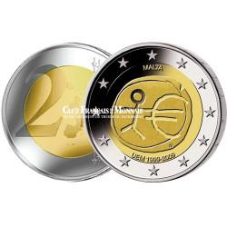2009 - Malte - 2 Euros commémorative 10 ans de l'Union Economique et Monétaire
