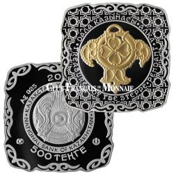 500 Tenge Argent Kazakhstan BE 2015 - Pendentif