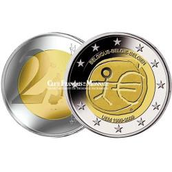 2009 - Belgique - 2 Euros commémorative 10 ans de l'Union Economique et Monétaire