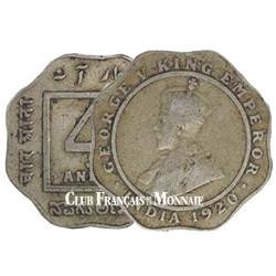 4 Annas Indes britanniques 1919-1921
