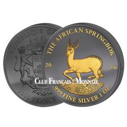 1000 Francs CFA Argent Gabon BU 2016 Or noir - Springbok