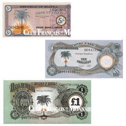 Lot de 3 billets Biafra 1967-1970