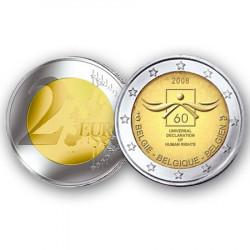 2008 - Belgique - 2 Euro commémorative 60 ans des droits de l'homme