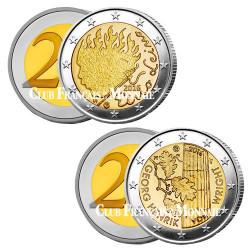 Lot de 2 x 2 Euro Finlande 2016