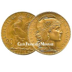 20 Francs Or Millésime 1914 - Marianne IIIe République