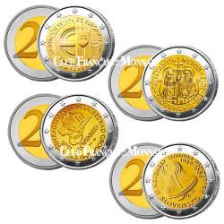 Lot des 4 x 2 Euro Slovaquie