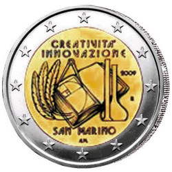 2009 - Saint-Marin - 2 euro Année Européenne de la créativité et de l'innovation