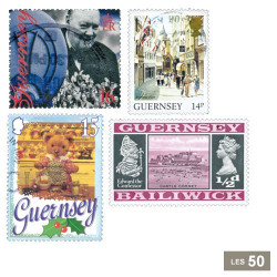 50 timbres Guernesey