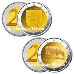 Lot des 2 x 2 Euros Lettonie 2016