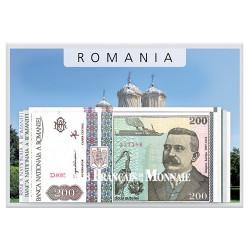 Lot de 4 billets Roumanie 1992-1933