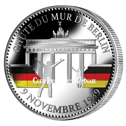 25 ans de la Chute  du Mur de Berlin colorisée