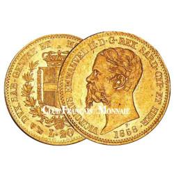 20 Lires Or Italie 1850-1878 - Vittorio Emmanuel II