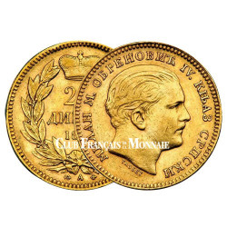 20 Dinars Or Serbie 1879 - Milan Ier