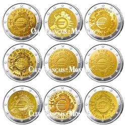 Lot des 17 x 2 Euros - 10 ans de l'Euro