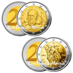 Lot des 2 x 2 Euro Italie 2014