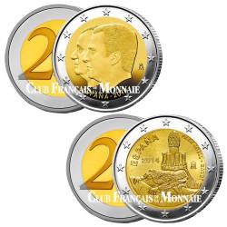 Lot des 2 x 2 Euro Espagne 2014