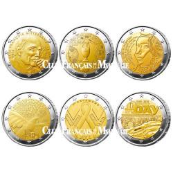 Lot des 12 x 2 Euro France
