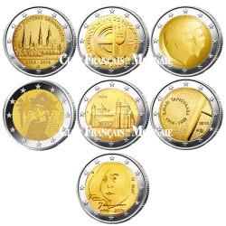 Lot des 21 x 2 Euro commémoratives 2014