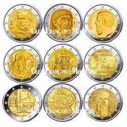 Lot des 17 x 2 Euro commémoratives 2013
