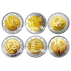 Lot des  6 x 2 Euro 2005
