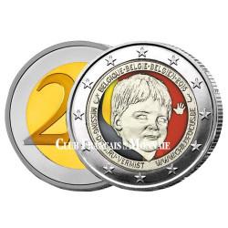 2 Euro Belgique 2016 colorisée -  Child Focus