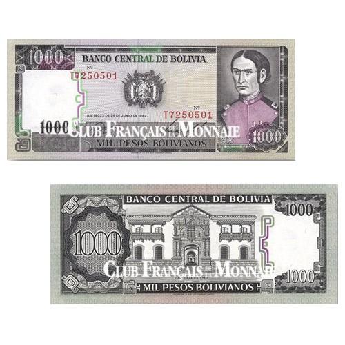 1 000 Pesos Bolivie 1982 - Juana Azurduy de Padilla (1780-1862)