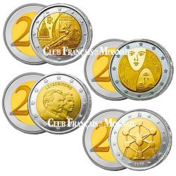 Lot de 4 x 2 Euro 2006