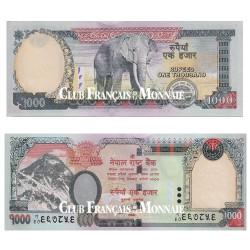 Billet 1 000 Roupies Népal 2010