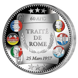 """""""L'Euro Traité de Rome"""" colorisé 2017 Argent Belle Épreuve"""