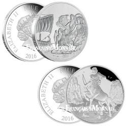 Le lot des 2 x 2 Dollars Argent BE 2016 - Mythologie grecque