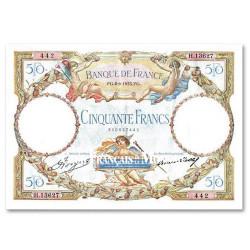50 Francs Luc Olivier Merson sans signature