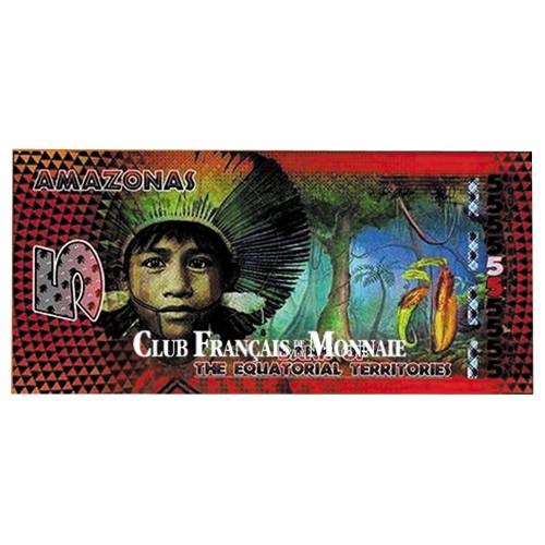Billet de 5 Francs Equatoriaux - Amazonie