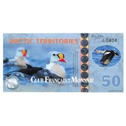 Billet de 50 Dollars Arctique 2017 - Eider à tête grise