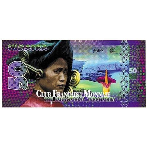 Billet de 50 Francs Equatoriaux - Sumatra