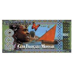 Billet de 500 Francs Equatoriaux - Zanzibar